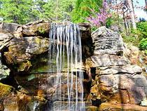 Wasserfall in den Garvan Woodland Gardens.  © kimberlykv